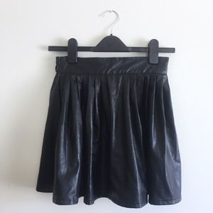 Asos Hearts and Bows Faux Leather Skirt